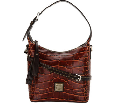 Dooney & Bourke Croco Embossed Leather Crossbody Handbag-Paige