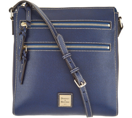 Dooney   Bourke Saffiano Leather Triple Zip Crossbody Handbag - Page ...