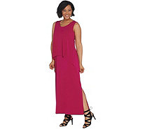 Susan Graver Regular Liquid Knit Tiered Maxi Dress - A308252