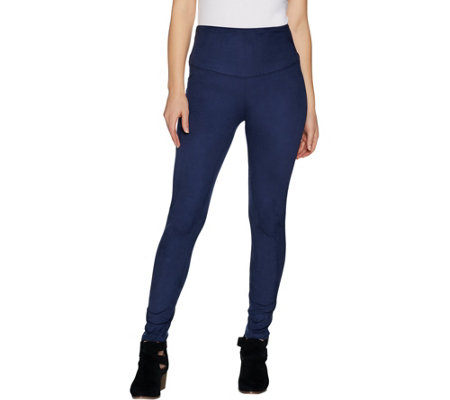 """As Is"" Yummie Signature Faux Suede Leggings"