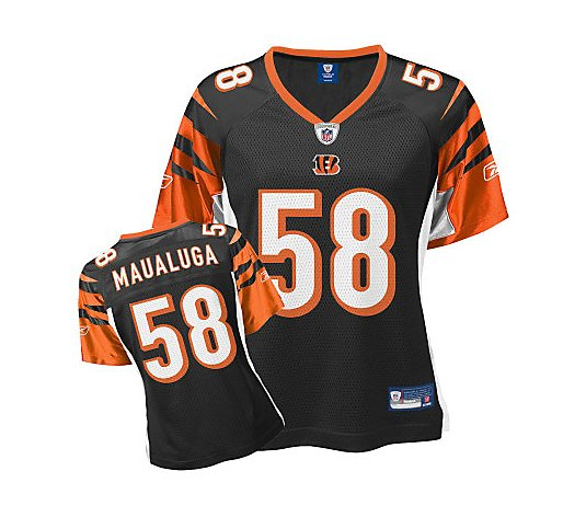 NFL Cincinnati Bengals Rey Maualuga Women's Color Jersey - QVC.com