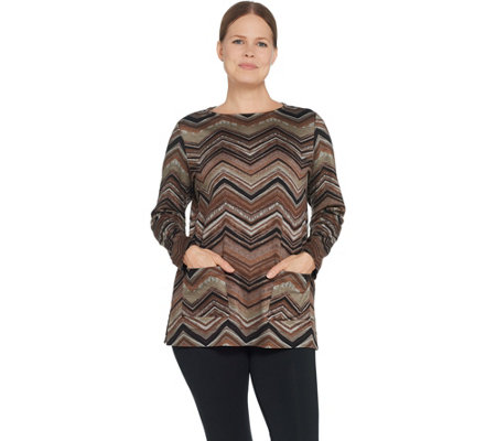 Susan Graver Weekend Printed Ponte Pullover Tunic