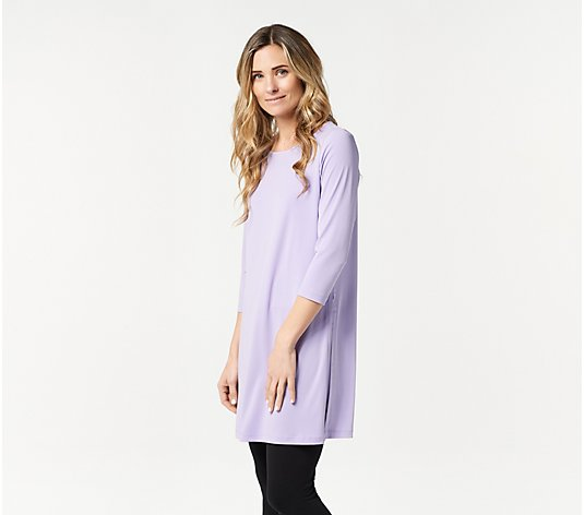 Every Day by Susan Graver Regular Liquid Knit Tunic with Slits