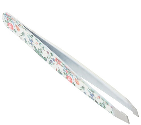 The Vintage Cosmetic Company Slanted Tweezers Floral