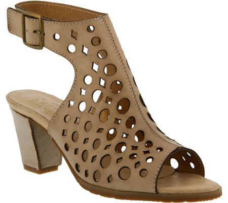 L'Artiste by Spring Step Leather Cut-out Sandals - Dova