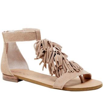 d5fced2ffe3 Sole Society Fringe Flat Sandals - Koa - A357852