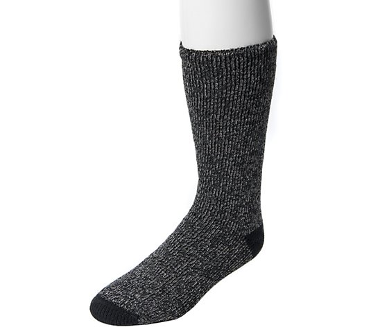 MUK LUKS Men's One-Pair Heat Retainer Socks