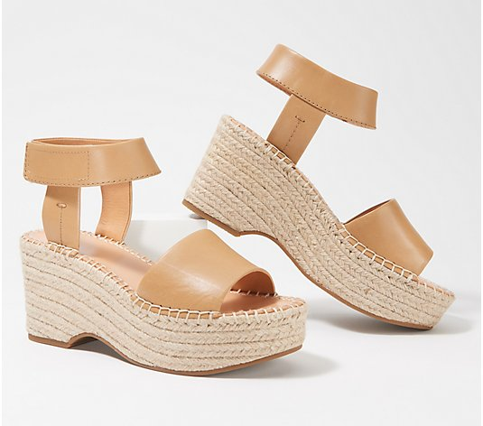 frye & co. Espadrille Wedge Sandals - Amber