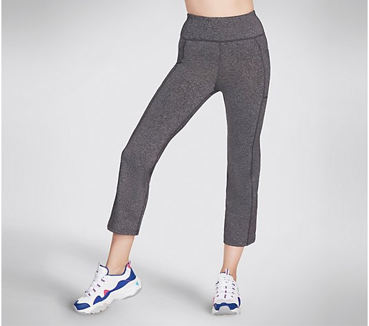 Skechers GOFLEX GoWalk High Waist Slight Flare Crop Pants