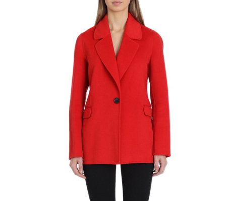 Badgley Mischka Bailey Double Face Wool Blazer