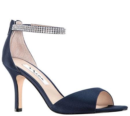 Nina Single Band With Rhinestone Ankle Strap Sandals Volanda