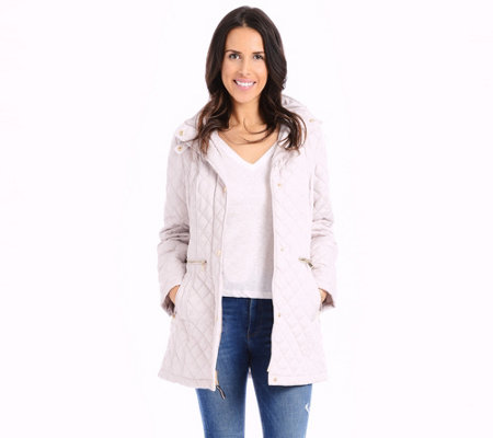 Vince Camuto Quilted Belted Trench Coat