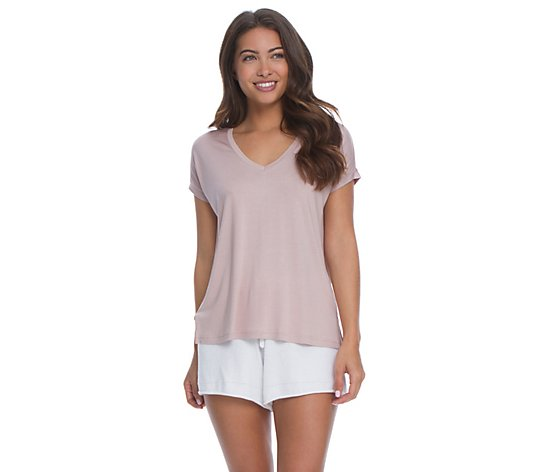 Barefoot Dreams Malibu Collection Women's V-Neck T-Shirt