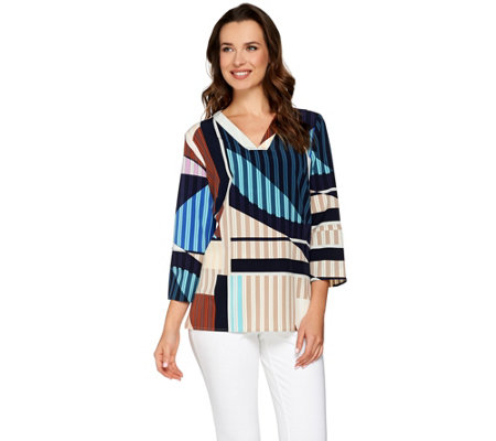 Kelly by Clinton Kelly Relaxed V-Neck Blouse