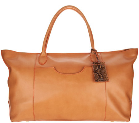 G.I.L.I. Italian Leather Oversized Tote Bag