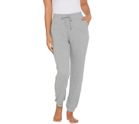 AnyBody Brushed Rib Hacci Slim Jogger Pant