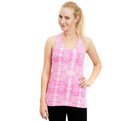 90 Degree by Reflex Animal Printed Active Racerback Tank
