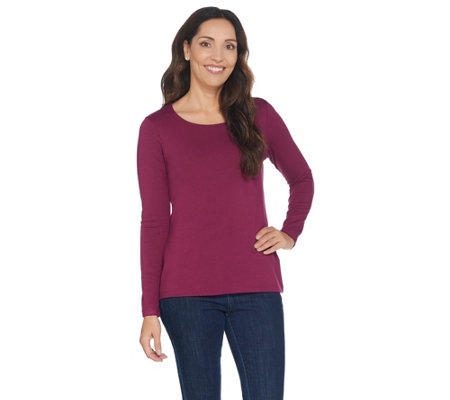 Attitudes by Renee Finespun Jersey Long Sleeve Knit Top