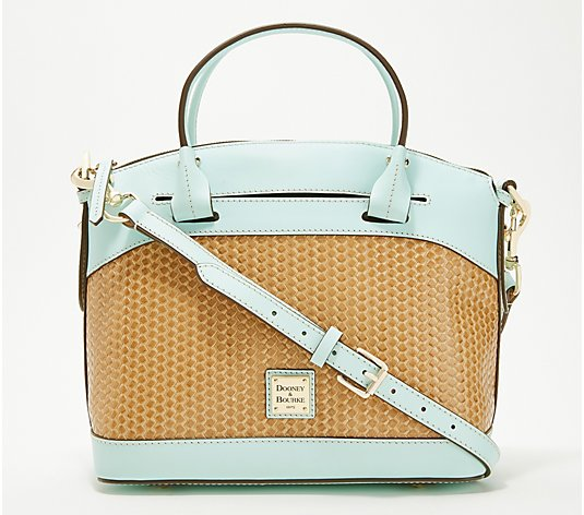 Dooney & Bourke Woven Embossed Leather Satchel - Beacon