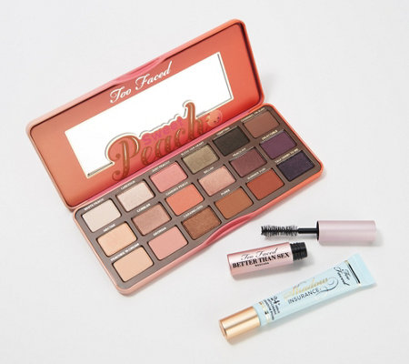 Too Faced Sweet Peach Palette with Eye Primer and Travel Mascara