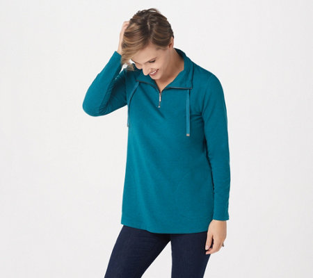 Susan Graver Weekend Heathered French Terry Tunic
