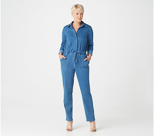 Women with Control Regular Prime Stretch Denim 2 Jumpsuit