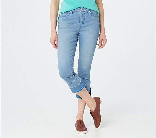 Isaac Mizrahi Live! Reguar TRUE DENIM Crop Jeans w/ Release Hem