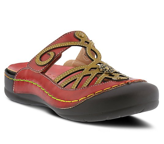 L'Artiste By Spring Step Leather Clogs - Malty
