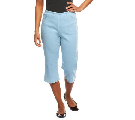 "Denim & Co. ""How Timeless"" Stretch Capri Pants w/Front Pockets"