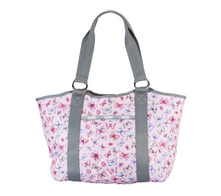 Lesportsac Printed Nylon Embroidered Carryall Tote