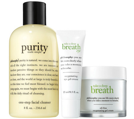 philosophy take a deep breath skincare trio
