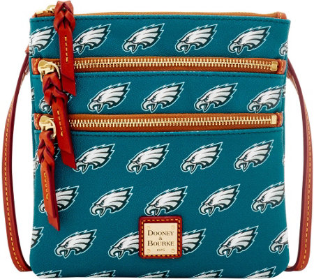 Dooney & Bourke NFL Eagles Triple Zip Crossbody