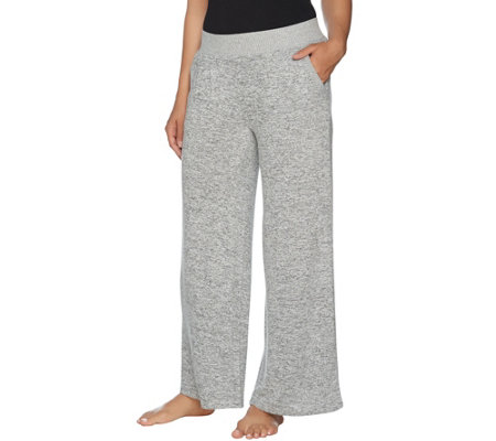 AnyBody Loungewear Brushed Hacci Wide Leg Pants