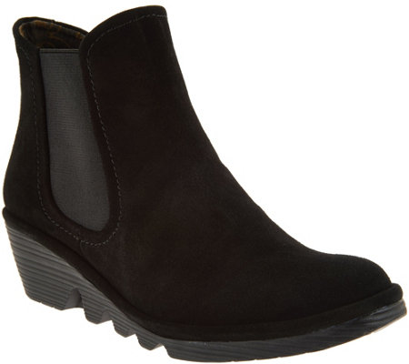 """As Is"" FLY London Suede Chelsea Boots - Phil"