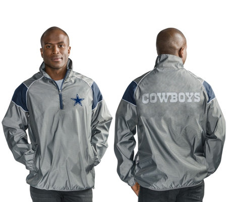NFL Dallas Quarter Zip Lightweight Pullover Jacket