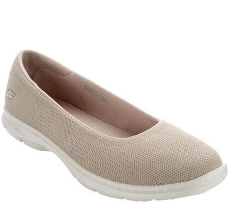 """As Is"" Skechers GO STEP Mesh Ballet Slip-On Shoes - Luxe"
