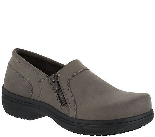 Easy Works by Easy Street Side Zip Work Shoes -Bentley