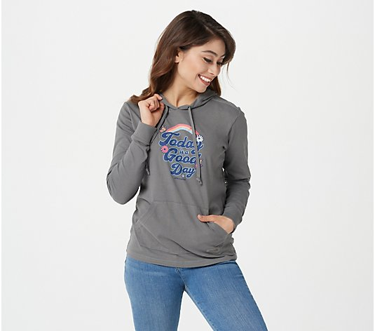 Life is Good Women's Long Sleeve Hooded Crusher