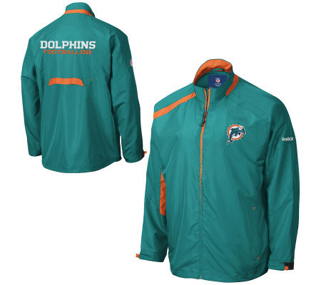 newest eab18 c66f4 NFL Miami Dolphins Lightweight Blockade Jacket — QVC.com