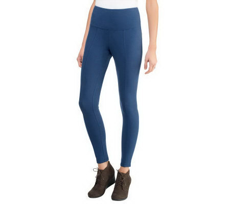 Women with Control Tummy Control Petite Leggings w/Seam Detail