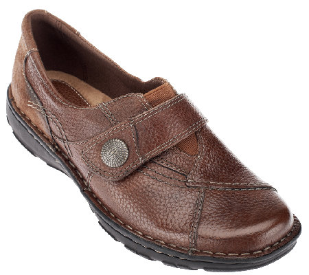 Earth Origins Leather Slip-on Monk Strap Shoes - Evelyn
