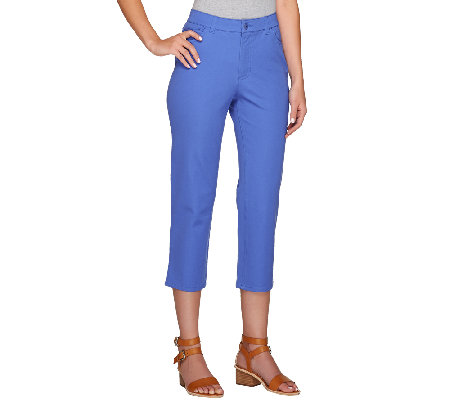 Isaac Mizrahi Live! Regular 24/7 Stretch 5 Pocket Crop Pants