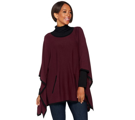 Belle by Kim Gravel Bateau Neck Knit Poncho