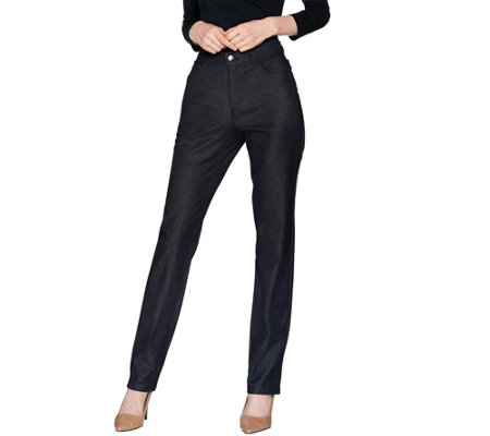 H by Halston Regular Studio Stretch 5- Pocket Straight Leg Pants