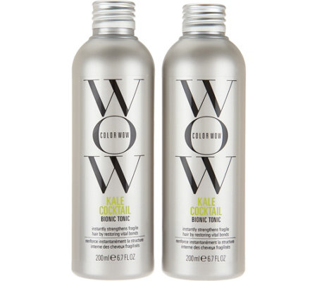 Color WOW Kale Cocktail Leave-In Hair Supplement 6.7 oz. Duo