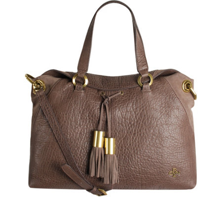 """As Is"" orYANY Lamb Leather Satchel Bag - Kacie"
