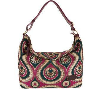 Mushmina Woven Pattern Hobo Bag w  Leather Strap - A293355 33cf36f25a