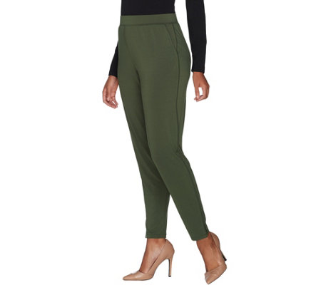 H by Halston Regular Jet Set Jersey Ankle Jogger Pants