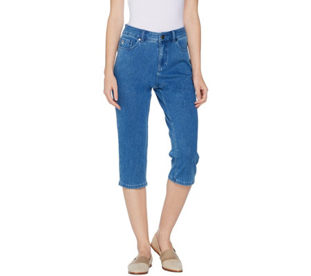 Belle by Kim Gravel Flexibelle Capri Jeans