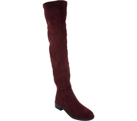 """As Is"" Franco Sarto Faux Suede Over-the- Knee Boots- Bailey"
